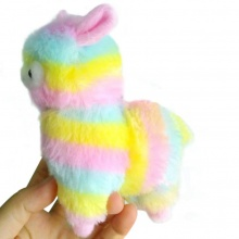 13CM Colorful Kawaii Alpaca Llama Arpakasso Soft Plush Toy Doll Gift Cute Toys Dropship Y803