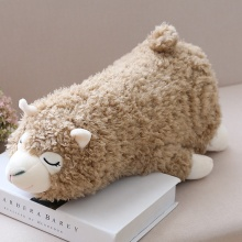 30cm Soft Llama Pillow Cartoon Sleeping Alpaca Plush Toy Fabric Sheep Stitch Stuffed And Soft Animal Toys For Children Gift