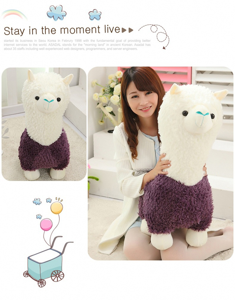 5 Sheep Alpaca Dolls Plush Toys Stuffed Sheep Llama Yamma Pillow Soft Cushion