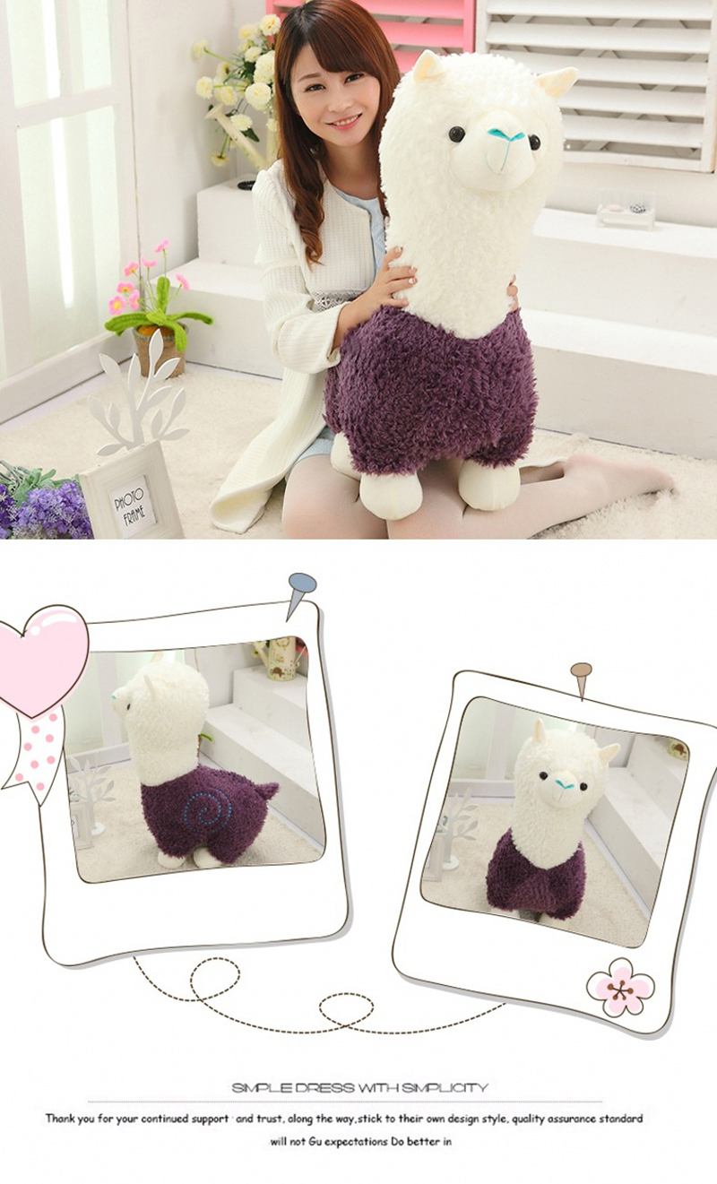 4 Sheep Alpaca Dolls Plush Toys Stuffed Sheep Llama Yamma Pillow Soft Cushion