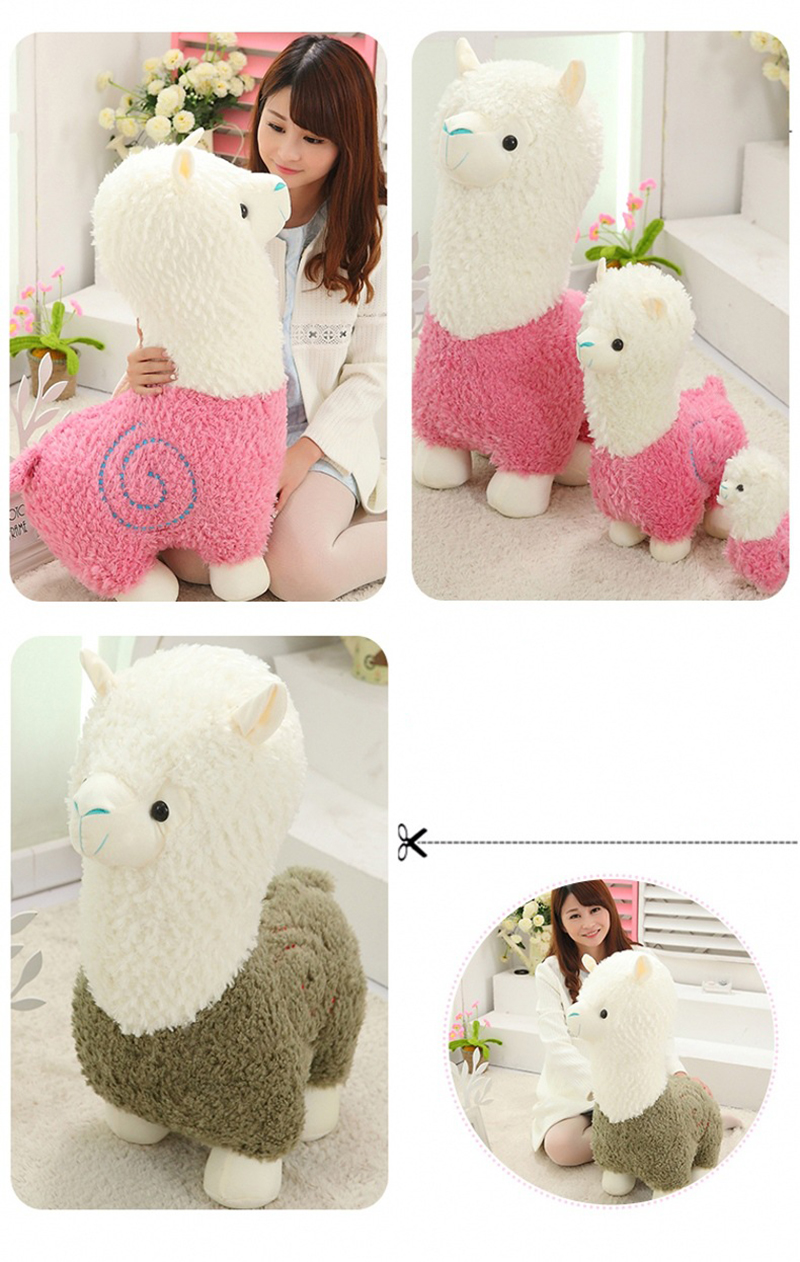 7 Sheep Alpaca Dolls Plush Toys Stuffed Sheep Llama Yamma Pillow Soft Cushion