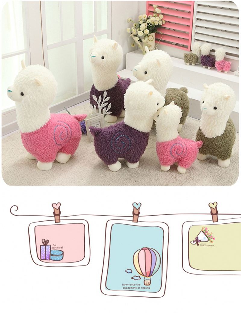 2 Sheep Alpaca Dolls Plush Toys Stuffed Sheep Llama Yamma Pillow Soft Cushion