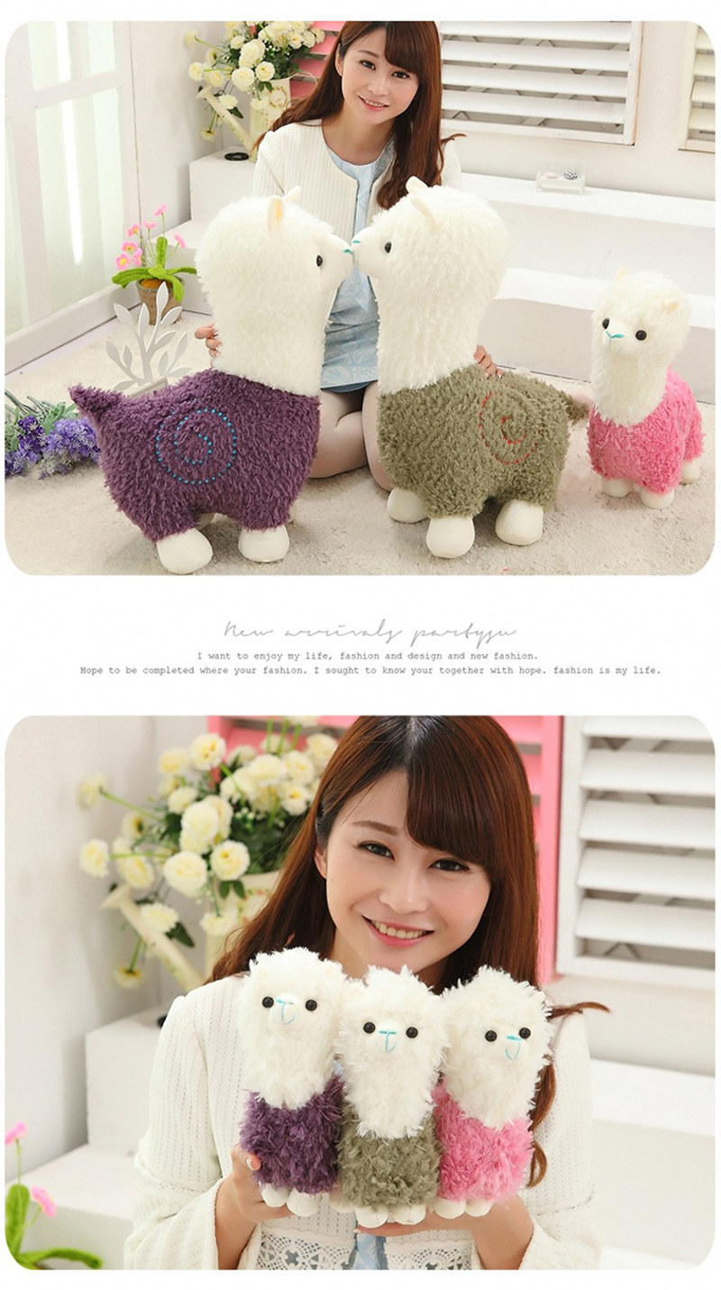 6 Sheep Alpaca Dolls Plush Toys Stuffed Sheep Llama Yamma Pillow Soft Cushion