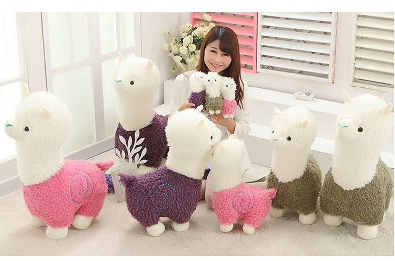 1 Sheep Alpaca Dolls Plush Toys Stuffed Sheep Llama Yamma Pillow Soft Cushion