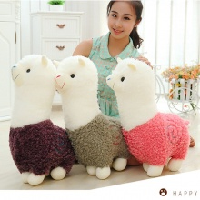 Cute 40cm Cartoon Alpaca Plush Toy Fabric Sheep Stitch Stuffed And Soft Animal Toys Llama Pillow Birthday Gift Toys For Children