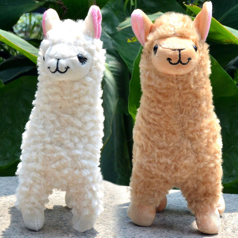 2 Pcs Plush Series Toy Animals Cute Alpaca Toy Camel Cream Llama