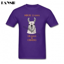 Latest Designing T-shirt Men Male 100% Cotton Short Sleeve Llama Family Summer Tees Men T-shirts