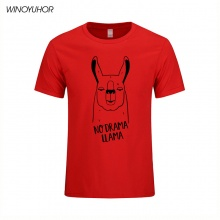 No Drama Llama T-Shirt Men 2017 Fashion Summer Cool Short Sleeve Tees Tops Funny Printed Cotton T Shirts Camisetas