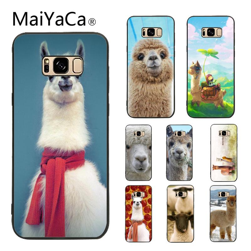 5be0f0d6af5 MaiYaCa Case for Galaxy S9 Alpaca Face Cute Lama Novelty Fundas Phone Case  Cover For Samsung Galaxy S5 S6 S7 S8 S9 S9 plus - Llama Gifts